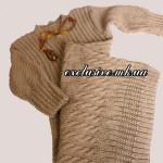 Вяжем платье спицами с миксом рельефных узоров