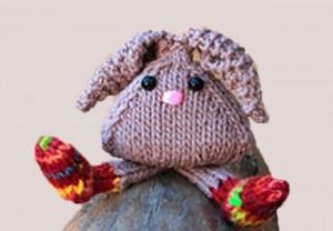 игрушка кролик спицами