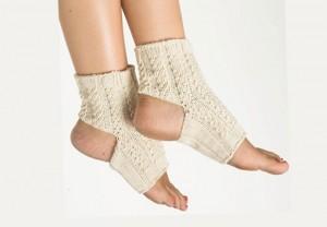 носки для йоги с узором жгут