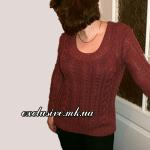 Вяжем пуловер с косами