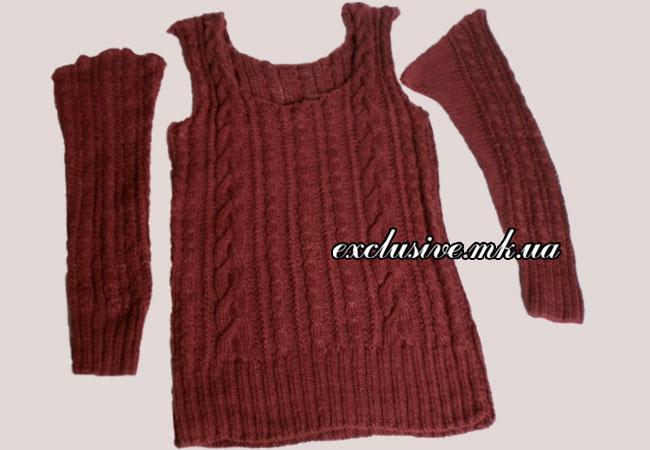 сборка пуловера