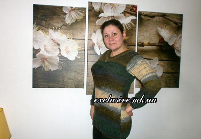 пуловер-изнаночной-гладью