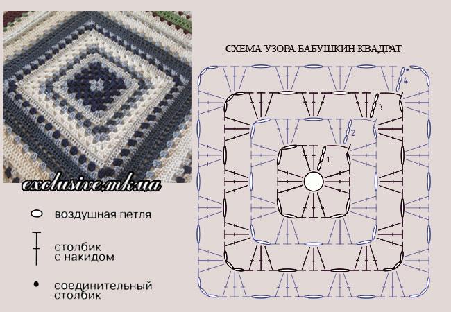 бабушкин квадрат схема-4