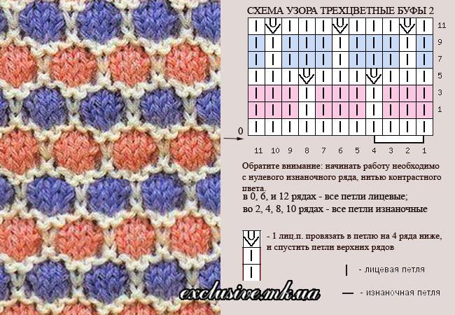 схема узора трехцветные буфы-2