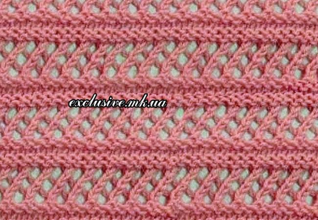 ажурная сеточка с рельефными полосами
