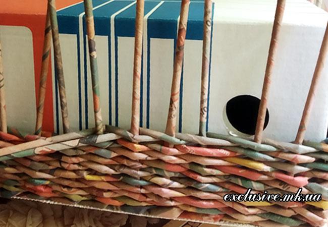 плетение-из-бумажной-лозы