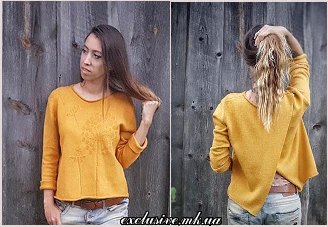 пуловер одуванчики