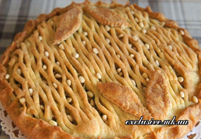 пирог с кабачками и курицей