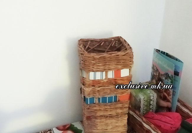 интерьерная ваза плетение