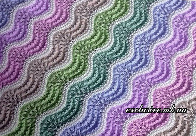 узор цветные волны