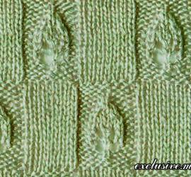 узор из клеточек с листочками