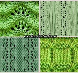 зеленые узоры спицами