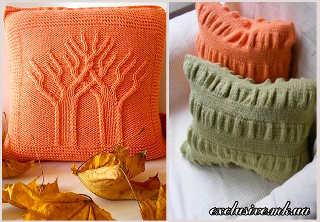 декоративные подушки спицами