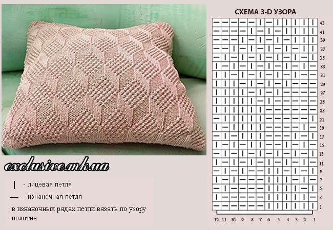 подушка узором 3d