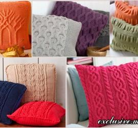подушки спицами
