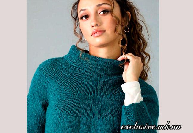 свитер с кокеткой